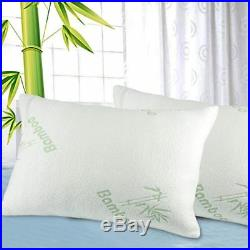 Bamboo Memory Foam Pillow ANTI BACTERIAL ORTHOPEDIC HEAD SUPPORT 70x40x13