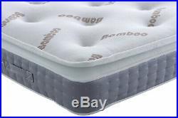 Bamboo Pocket Series 3000 Memory Foam Pillow Top Mattress 2ft6 3ft4ft6 5ft 6ft