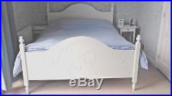 Beautiful superking bedframe with memory foam mattress, pillows and bedding