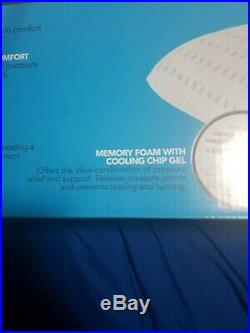 Beautyrest Memory Foam Pillow with Cooling Chip Gel- BRAND NEW! -LOT OF 2