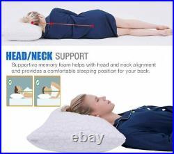 Bed Pillows for Sleeping Adjustable Gel Shredded Memory Foam Pillow Cool
