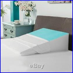Bed Wedge Pillow Gel Coating BioPEDIC Comfort Sleep Rest Relieve Pressure Heat