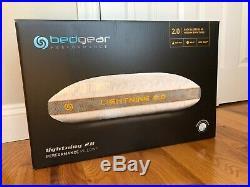 Bedgear Storm Lightning 2.0 Performance Pillow for Back Sleepers