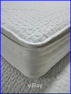 Best Memory Foam 5ft King Size Pocket Sprung Pillow Top Mattress Huge Savings