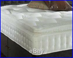 Best Quality 3000 Pocket Sprung Pillow Top Mattress, 3ft 4ft6 5ft 6ft King Size