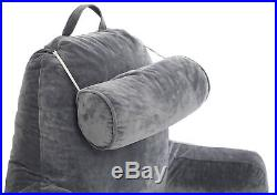 Big Bedrest Reading Pillow Backrest Bed Support Therapeutic Shredded Memory Foam