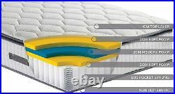 Birlea Bliss 800 Pocket Foam Pillow Top Mattress, 4FT Small Double, Medium firm