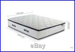 Birlea Sleepsoul Bliss 800 Pocket Memory Pillow Top Single, 4FT, Double, King, 6FT