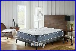 Blue 1 Piece Pillow Top Hybrid Gel Memory Foam Mattress T F Q K CK Size 10