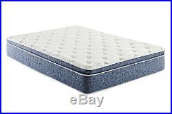 Blue Firm Pillow Top Hybrid Gel Memory Foam 1-Pc Rolled Mattress Queen 12 Inches