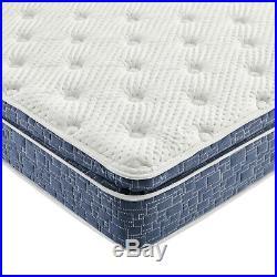 Blue Pillow Top Hybrid Gel Memory Foam 1 Piece Mattress Queen Size 10 Inches