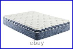Blue Plush Pillow Top Hybrid Gel Memory Foam 1-Pc Mattress Queen Size 12 Inches