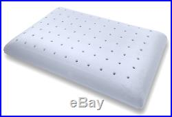 Bluewave Bedding Ultra Slim Extra Firm Gel-Infused Memory Foam Pillow Thin and