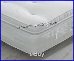 Box Pillow top 2000 Pocket Spring Memory Foam Mattress 3ft 4ft /4ft6 5ft 6ft