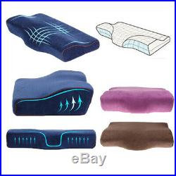 Breathable Ergonomic Memory Foam Sleeping Pillow Cushion Neck Cervical Pain