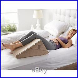 Brookstone 4-in-1 Bed Wedge Pillow with Body Conforming Memory Foam