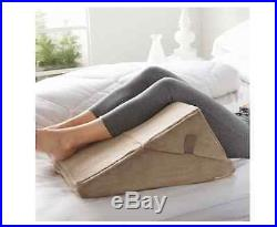 Brookstone Bed Wedge Pillow Memory Foam Back Support Adjustable Lumbar Cushion