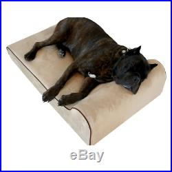 Bully Beds Orthopedic Memory Foam Dog Bed Waterproof Bolster Beds for Large an