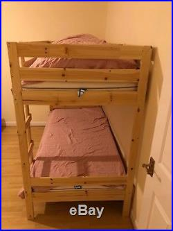 Bunk Bed IKEA MYDAL with mattresses, duvets, pillows and sheets