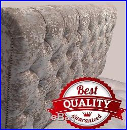 CHESTERFIELD SLEIGH Bed and Memory Foam Spring Mattress+ 2 Free Pillows