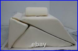 CONTOUR Backmax Memory Foam Bed Wedge System 70x28x14 W Pillow & Cover NEW