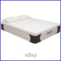 California King Size Cool Gel Memory Foam 14 Mattress with 2 Shredded Pillows