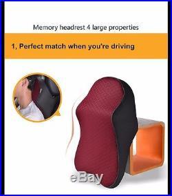 Car Seat Headrest Pad Memory Foam Travel Pillow Head Neck Rest Support Cushion