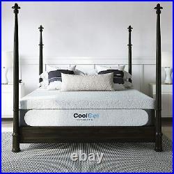 Classic Brands Cool Gel 1.0 Gel Memory Foam 14 Mattress with BONUS 2 Pillows King