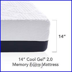 Classic Brands Cool Gel 2.0 Ultimate Memory Foam 14-Inch BONUS 2 Pillows King