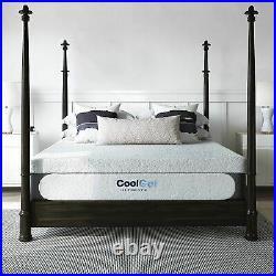 Classic Brands Cool Gel Memory Foam 14-Inch Mattress with BONUS Pillow CertiPU