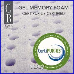 Classic Brands Mercer Pillow Top Cool Gel Memory Foam, Innerspring Hybrid, Queen