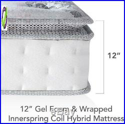Classic Brands Mercer Pillow Top Cool L Memory Foam And Innersp Hybrid 12 Mattr