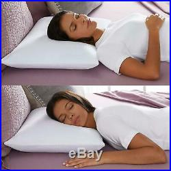 Classic Memory Foam Standard Size Pillow With Breathable Knit Cover White