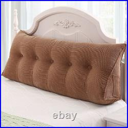 Comfortable Removable Pillow Bed Double Backrest Bedroom Tatami Long Cushion