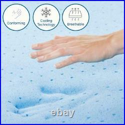 Cool Gel Memory Foam Mattress Ultra Plush Tight Top Standard Pillows King 14