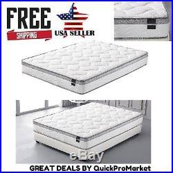Cool Memory Foam Mattress Full Queen King Size Pillow Top Medium Firm 10 Inch