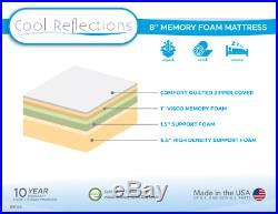 Cool Reflections 8 Memory Foam Mattress & FREE SET OF SERTA PILLOWS