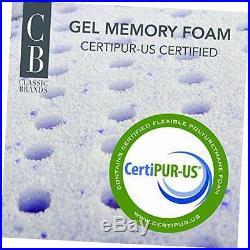 Cool gel ultimate gel memory foam 14-inch mattress with 2 pillows, king