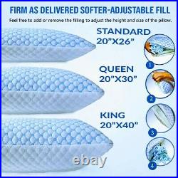 Cooling Memory Foam Pillow Ventilated Pillow Infused Cooling ICE Gel Cover