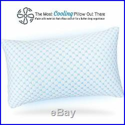 Cooling Memory Foam Pillow Ventilated Soft Bed Pillow Infused with Cooling Gel