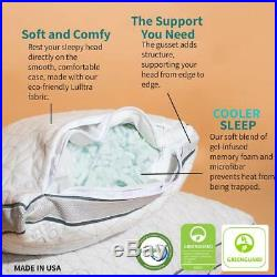 Coop Home Goods Eden Adjustable Pillow Hypoallergenic Shredded Memory Foam