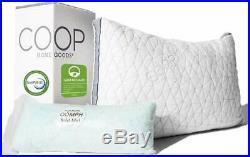 Coop Home Goods Eden Adjustable Pillow Hypoallergenic Shredded Memory Queen