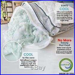 Coop Home Goods Eden Shredded Memory Foam Pillow with Cooling Zippered Cover