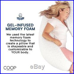 Coop Home Goods Memory Foam Body Pillow with Adjustable Shredded Perfect