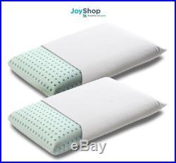 Coppia cuscini guanciali memory foam per cervicale sfoderabili tessuto in cotone
