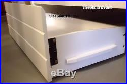 Cosmos Triple Bunk Beds WHITE or MAPLE Wooden Bunk With Drawers 2 FREE PILLOWS