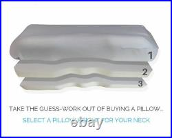 CosyCo Memory Foam Self-Adjusting Adjustable Pillow With Cover