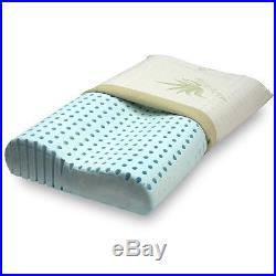 Cushion pillow memory foam Blue Orthopedic cervical double wave Aloe vera