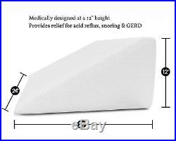 Cyber Monday Deals Bed Wedge Pillow with Memory Foam Top for Sleeping Reading
