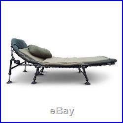 Cyprinus Tilt Memory Foam Carp Fishing 6 leg Bedchair Bed with Pillow RRP £150